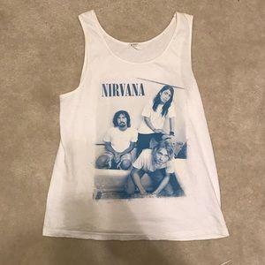 hot topic 90s nirvana bathtub grunge tank top!!